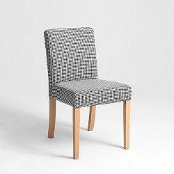 Černobílá židle s přírodními nohami Custom Form Wilton