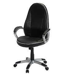 Černobílé kancelářské křeslo Knuds Speedy 4