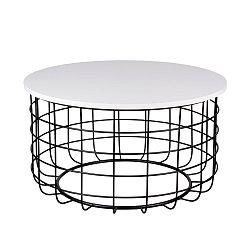 Černobílý konferenční stolek sømcasa Celso