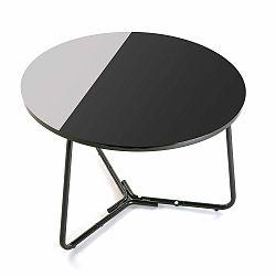 Černobílý kulatý stůl Versa Dayton, ø60cm