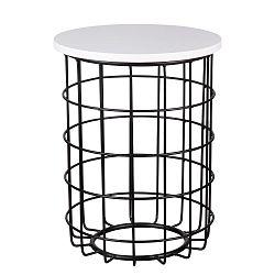 Černobílý odkládací stolek sømcasa Elmo