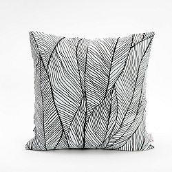 Černobílý povlak na polštář Mikabarr Pinion, 45 x 45 cm