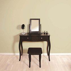 Černohnědá stolička k toaletnímu stolku Steens Baroque