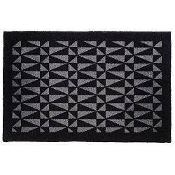 Černošedá rohožka Tica Copenhagen Graphic, 60x90cm