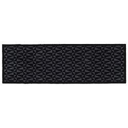 Černošedá rohožka Tica Copenhagen Graphic, 67x200cm