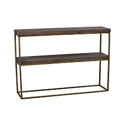 Černý dřevěný konzolový stolek Folke Brogge