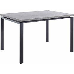 Černý jídelní stůl s deskou v dekoru betonu Støraa Sandra, 90x120cm