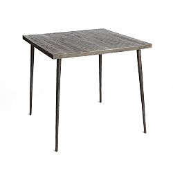 Černý jídelní stůl z mangového dřeva Simla Rock Cube