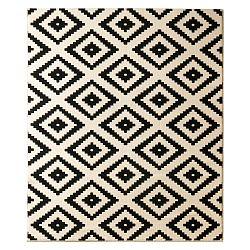Černý koberec Hanse Home Hamla Diamond, 80x150cm