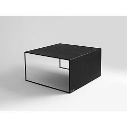 Černý konferenční stolek Custom Form 2Wall, 80x80cm