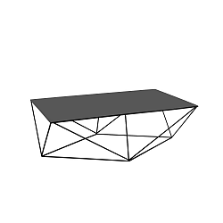 Černý konferenční stolek Custom Form Daryl, 140x80cm
