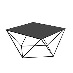Černý konferenční stolek Custom Form Daryl, délka80cm