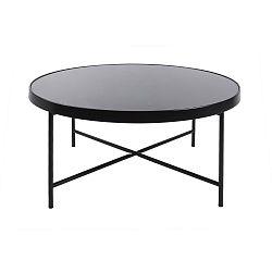 Černý konferenční stolek Leitmotiv Smooth XL, 82,5 x 40 cm