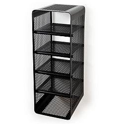 Černý nástěnný 5patrový botník Tica copenhagen Perforate