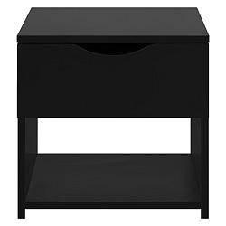 Černý noční stolek se šuplíkem Artemob Letty