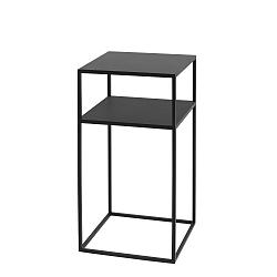 Černý odkládací patrový stolek Custom Form Tensio, 30x30cm