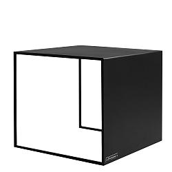 Černý odkládací stolek Custom Form 2Wall, 50x50cm
