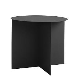 Černý odkládací stolek Custom Form Oli, ⌀50cm