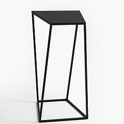Černý odkládací stolek Custom Form Zak, 30x30cm