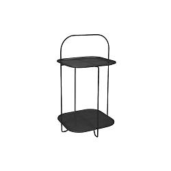 Černý odkládací stolek Leitmotiv Trays