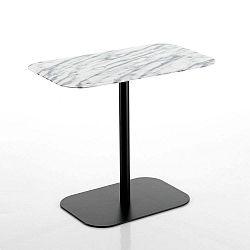 Černý odkládací stolek s mramorovou deskou Tomasucci Imperial