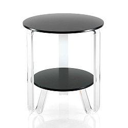 Černý odkládací stolek Tomasucci Poole, ⌀ 48cm