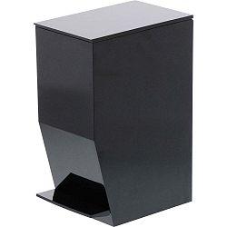 Černý odpadkový koš do koupelny YAMAZAKI