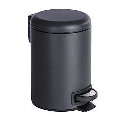 Černý odpadkový koš Wenko Leman, 3 l