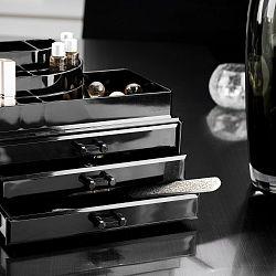 Černý organizér na kosmetiku Compactor
