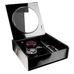 Černý organizér na kosmetiku se zrcátkem Compactor