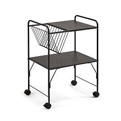 Černý pojízdný stolek La Forma Strahan