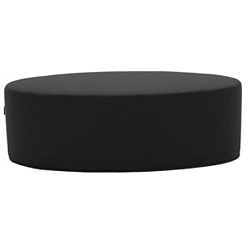 Černý puf Softline Bon-Bon Vision Black Grey, délka 120 cm