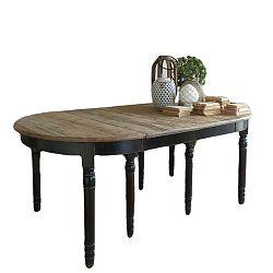 Černý rozkládací jídelní stůl ze dřeva zimního dubu Orchidea Milano New Vintage