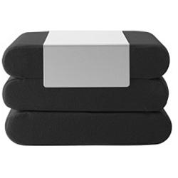 Černý rozkládací puf Softline Bingo Vision Black Grey