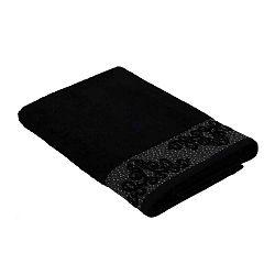 Černý ručník z bavlny Bella Maison Damask, 50 x 90 cm