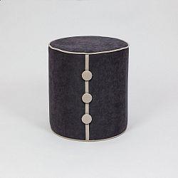 Černý sedací taburet Dombi Leny, ⌀ 41 cm