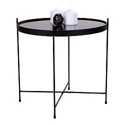 Černý skleněný konferenční stolek House Nordic Venezia