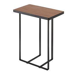 Černý stolek se stojanem na časopisy Tower Magazine Rack&Table
