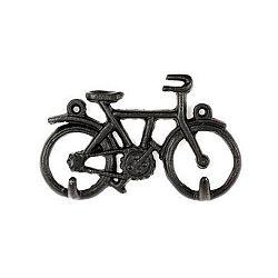 Černý věšák na klíče ve tvaru kola Kikkerland Bike