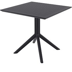 Černý zahradní jídelní stůl Resol Sky, 80 x 80 cm