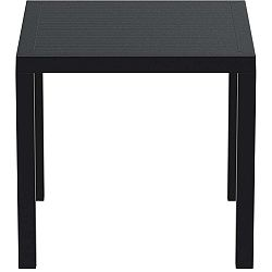 Černý zahradní stůl Resol Arctic, 75 x 80 cm