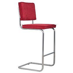 Červená barová židle Zuiver Ridge Rib
