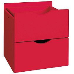 Červená dvojitá zásuvka do regálu Støraa Kiera, 33x33cm