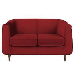 Červená dvoumístná pohovka Mel Art Donatello