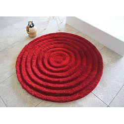 Červená koupelnová předložka Alessia Ecru, Ø 90 cm
