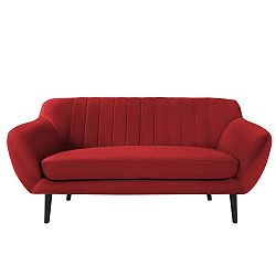 Červená pohovka pro dva Mazzini Sofas Toscane, černénohy