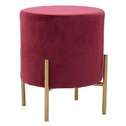 Červená stolička sesametovým potahem InArt Metallic,⌀35cm