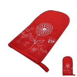 Červená teflonová rukavice s magnetem Orion Květ