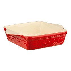 Červená zapékací mísa Premier Housewares Sweet Heart, 22x31cm