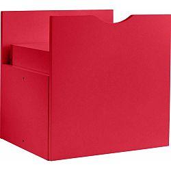 Červená zásuvka do regálu Støraa Kiera, 33x33cm
